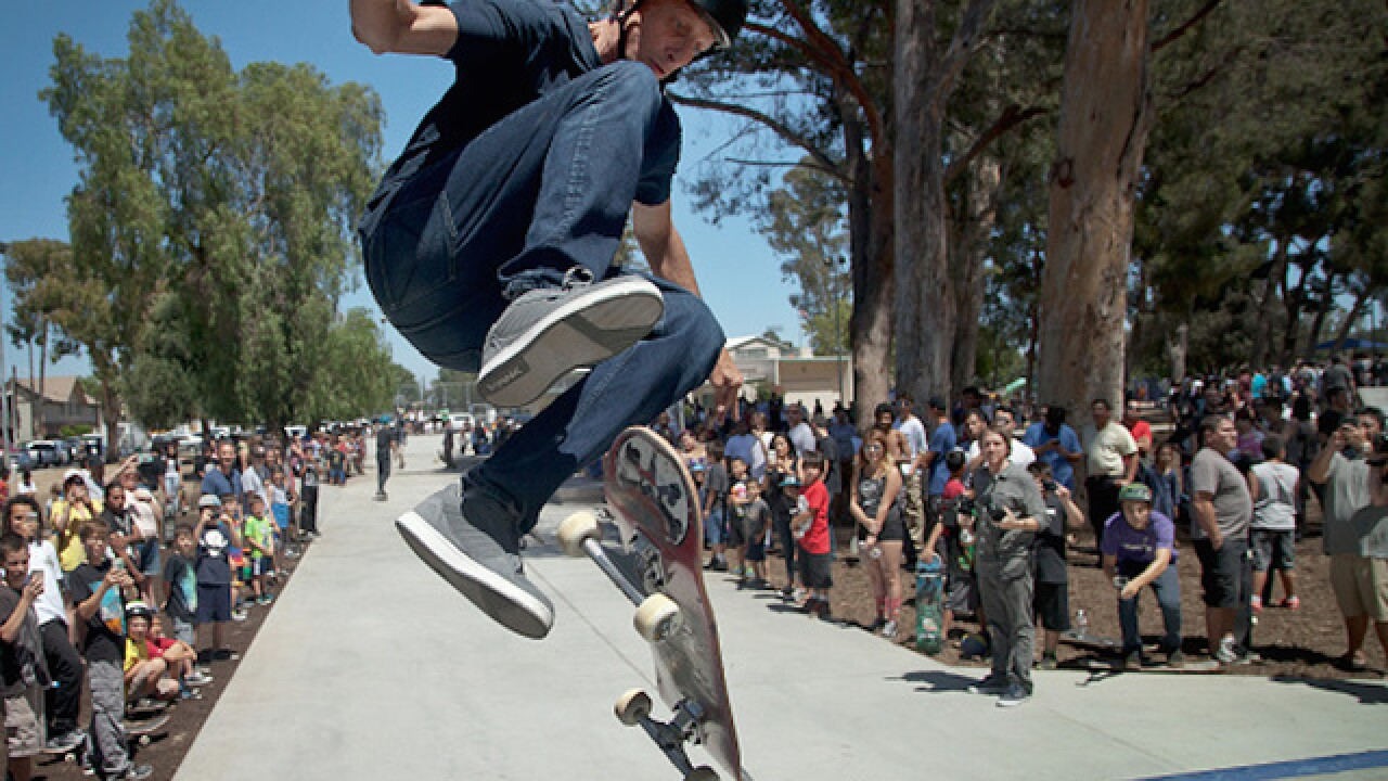 Tony Hawk recreates his breakthrough skate trick at age 48