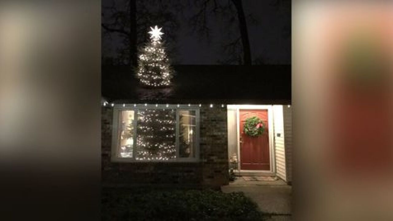 Family's solution for 20-foot Christmas tree