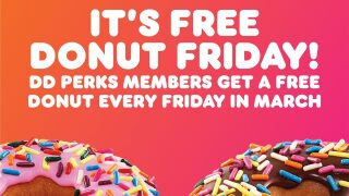 How to get a free doughnut from Dunkin' every Friday in March
