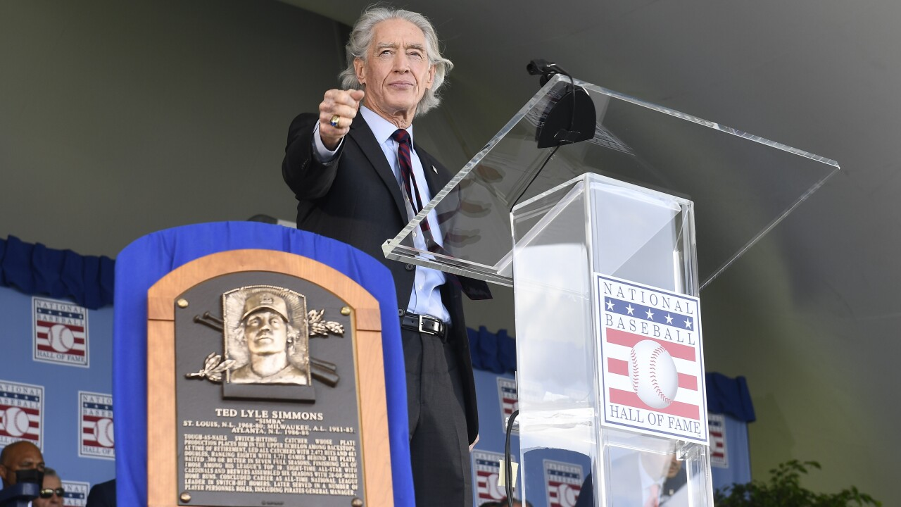Hall Of Fame Inductions Baseball Ted Simmons