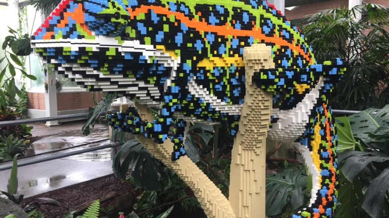 Endangered species made out of LEGOs at Zoo