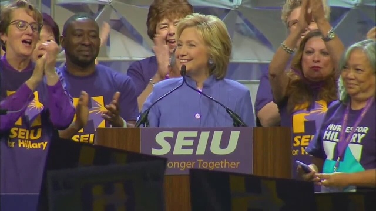 Hillary Clinton heads to Detroit this morning