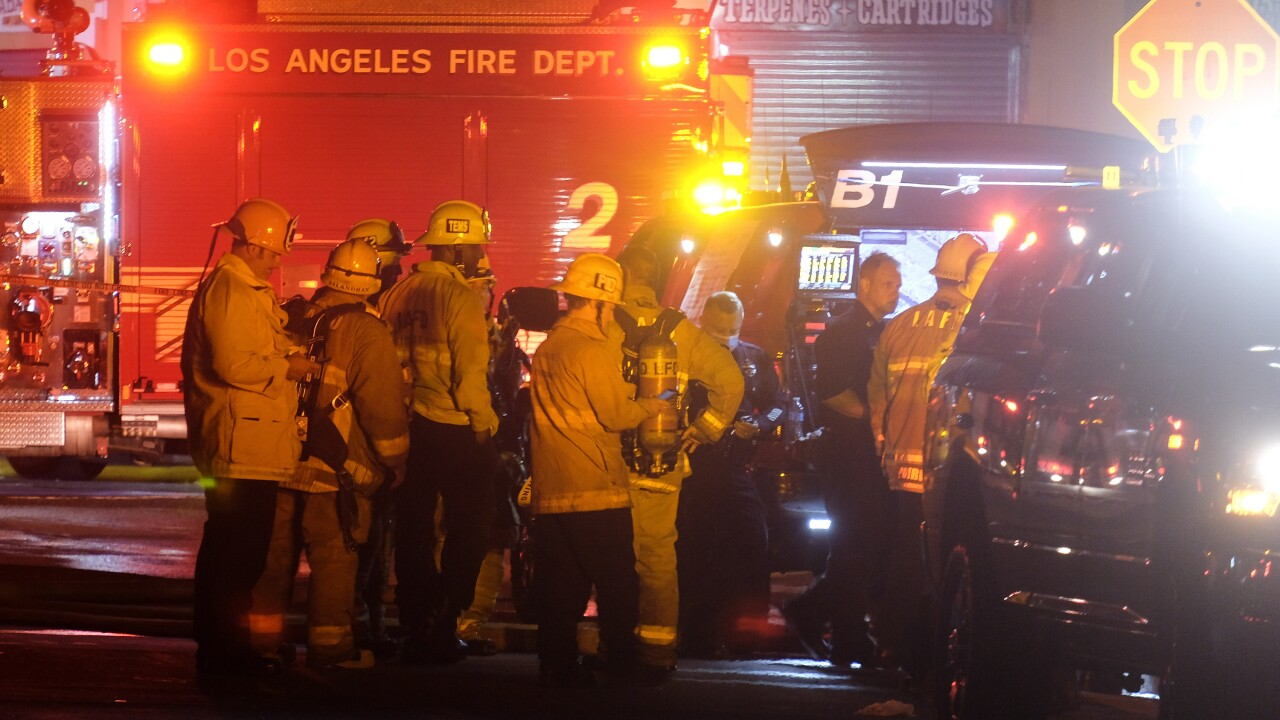 12 Los Angeles firefighters recovering after explosion