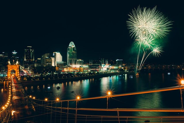 Cincygram records the rockets' red glare on a Fourth of July weekend