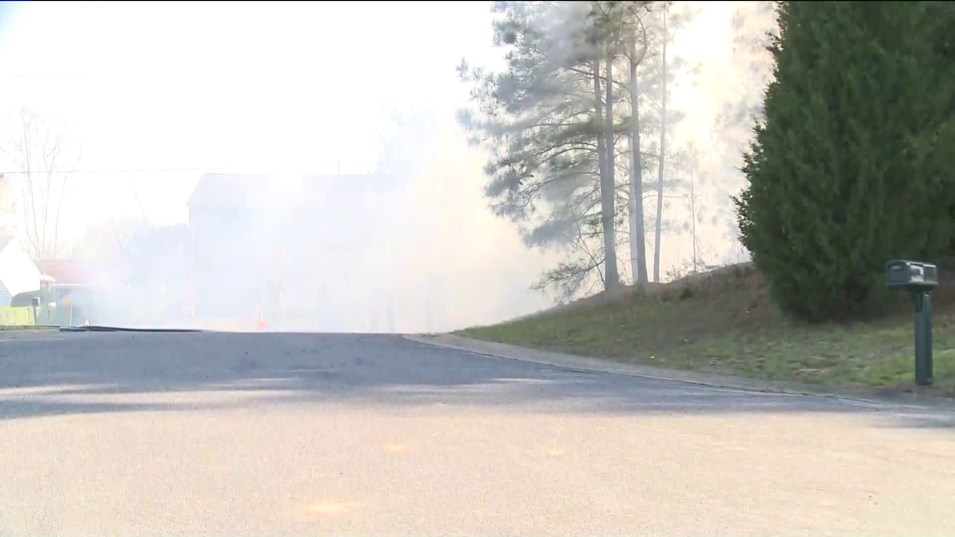 Photos: Chesterfield neighbors get nervous as separate brush fires threaten homes