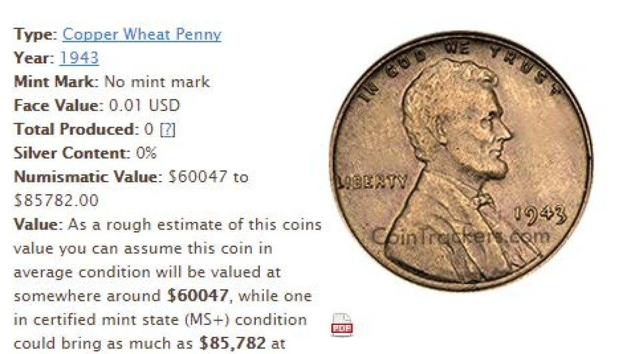 Check your pockets, rare pennies selling for $85,000