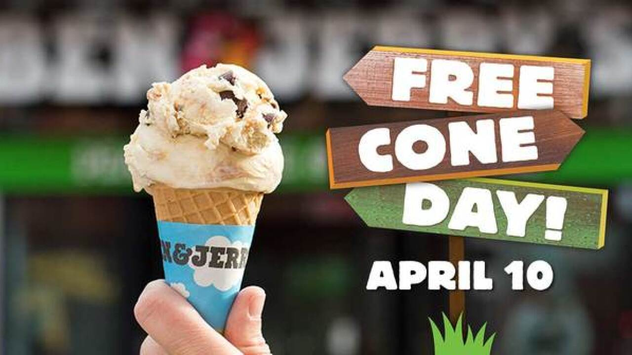 Ben & Jerry's holding Free Cone Day April 10