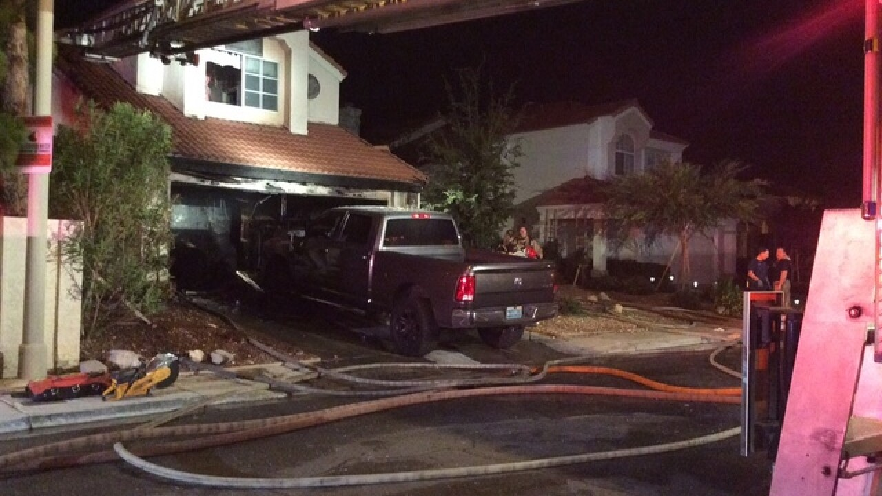 Little girl rescued from burning home