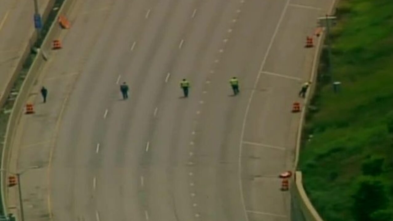 No evidence found after report of shots fired on Milwaukee interstate