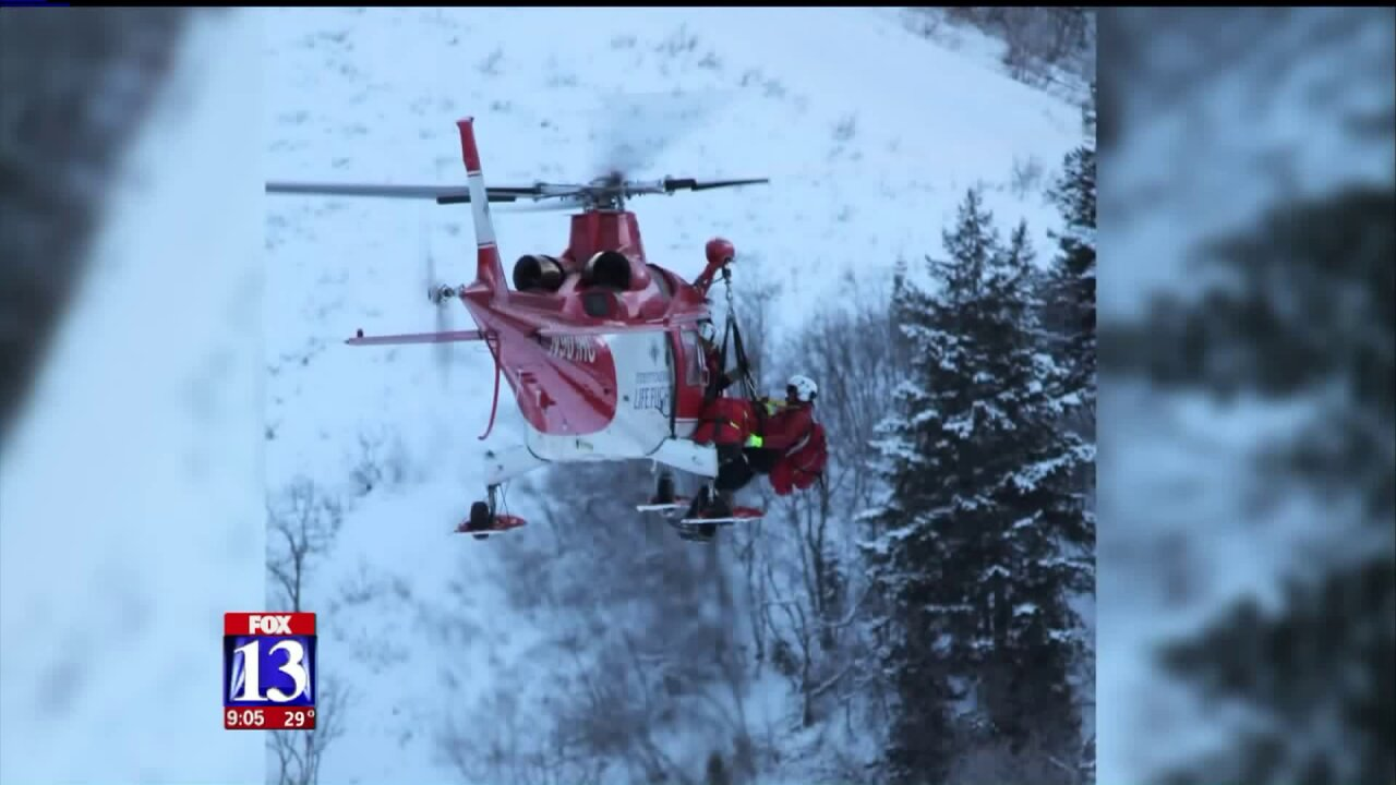 Skier flown to hospital after avalanche at Snowbasin Resort