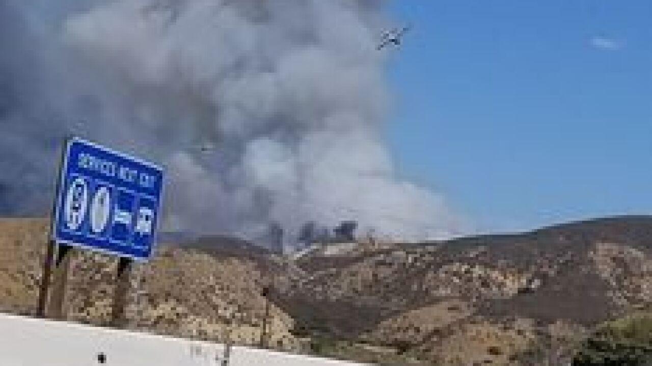 Crews working on Charlie Fire near Castaic