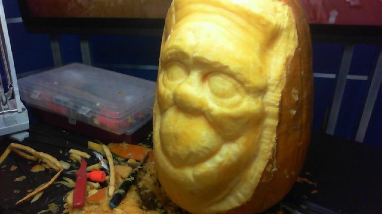 Pumpkin carving as art on Good Morning Idaho