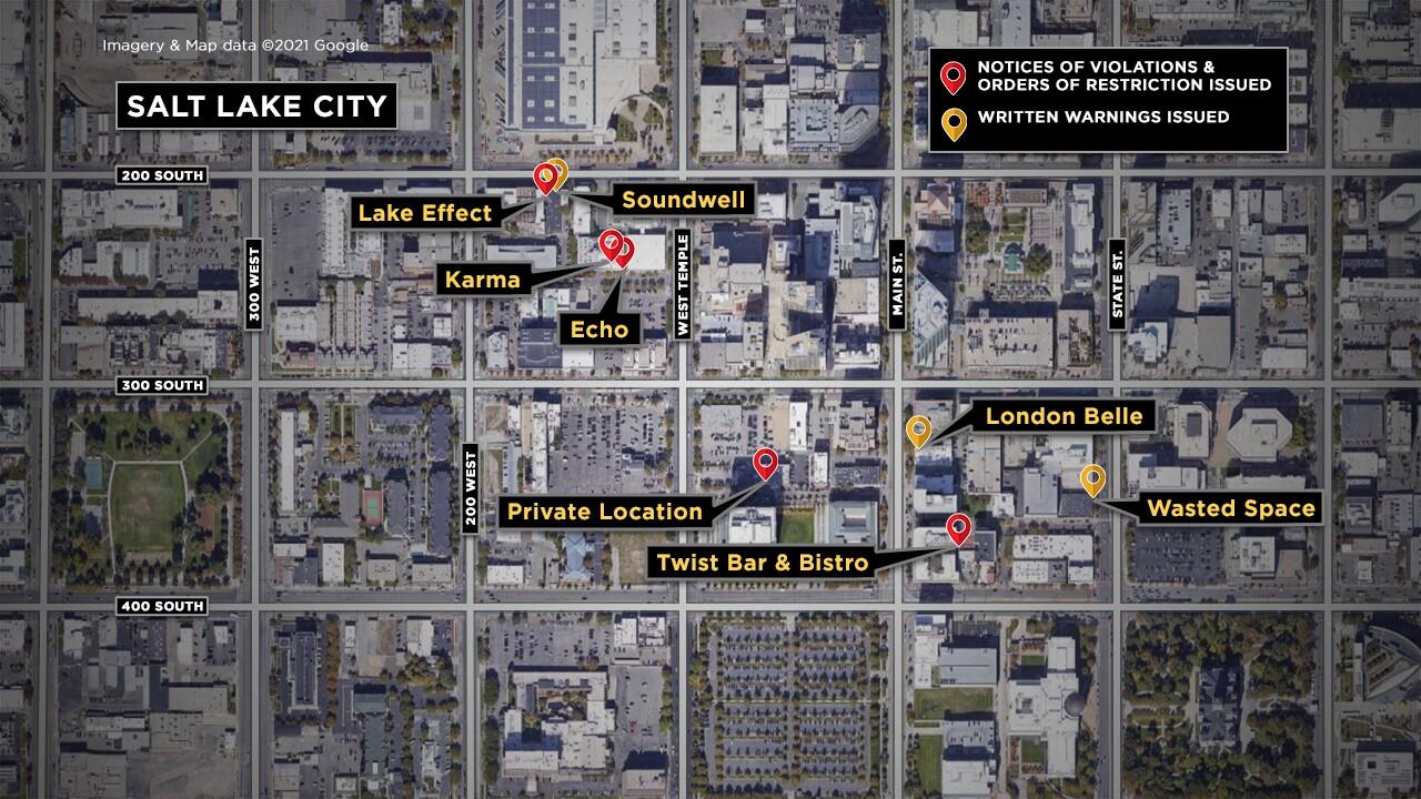 Salt Lake City Bars Closed