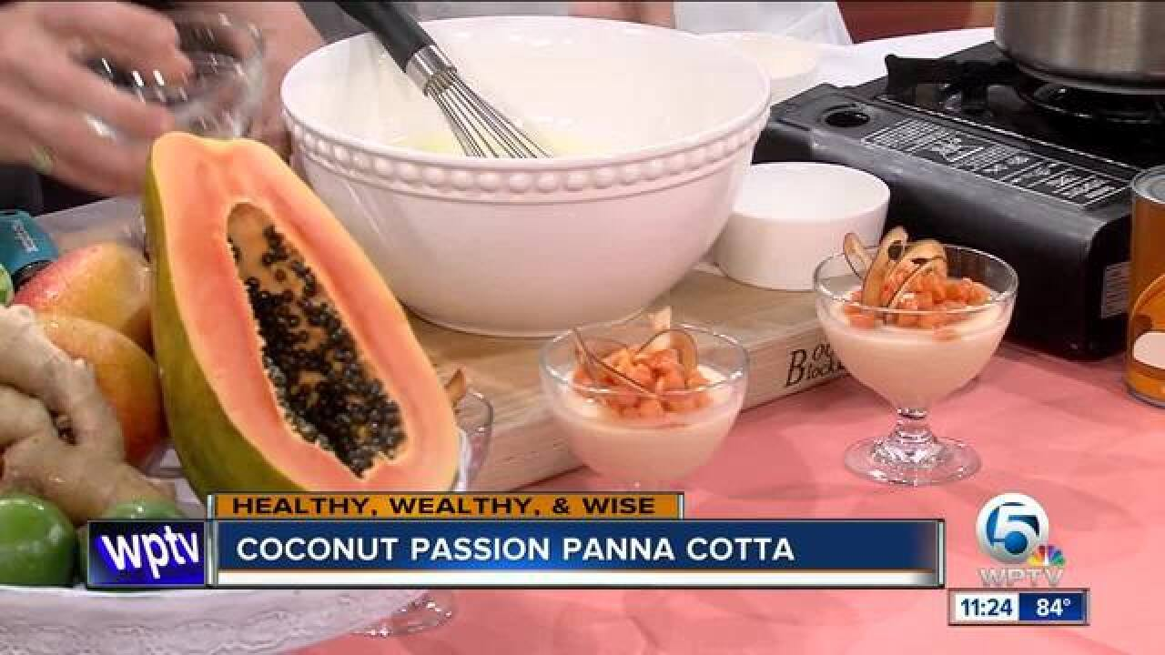 Recipe fo Coconut Passion Panna Cotta