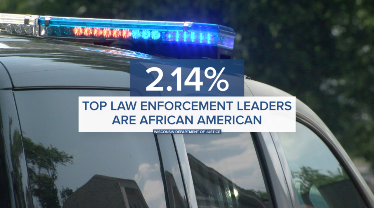 Percentage of African American Chiefs in Wisconsin graphic