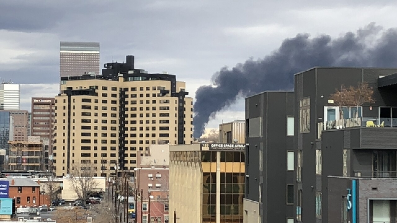 Crews battle fire at Denver recycling plant