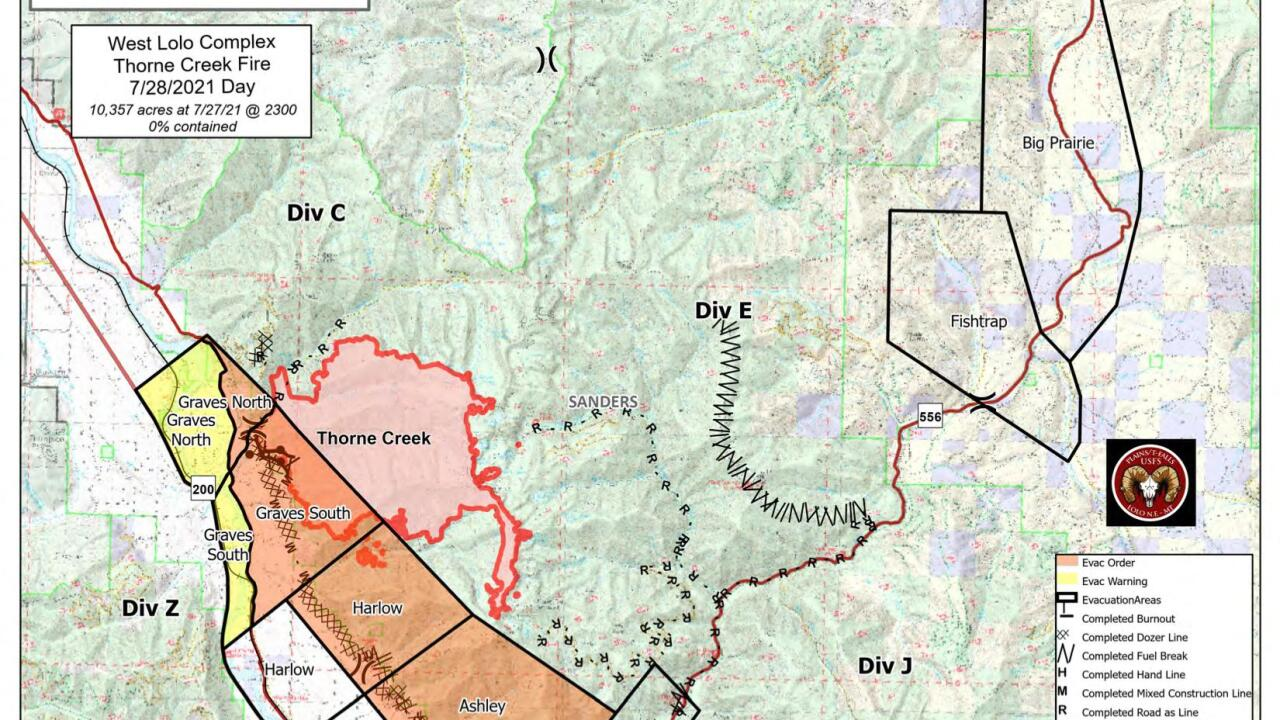 Thorne Creek Fire Map 728