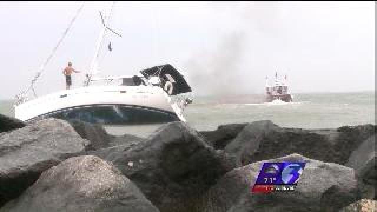 Storm causes anchored boat to get loose in Ocean View