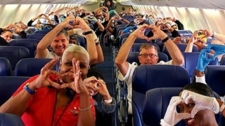 health care professionals on plane