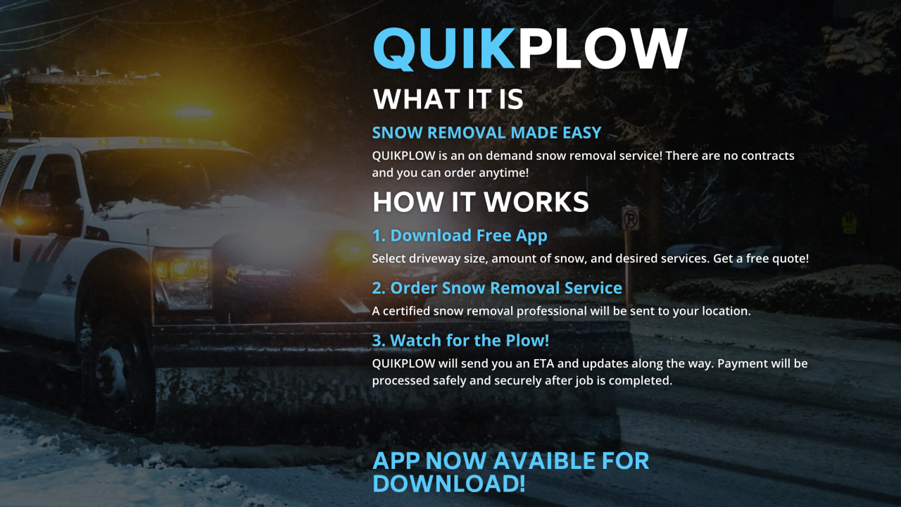 New app is like Uber for snow removal
