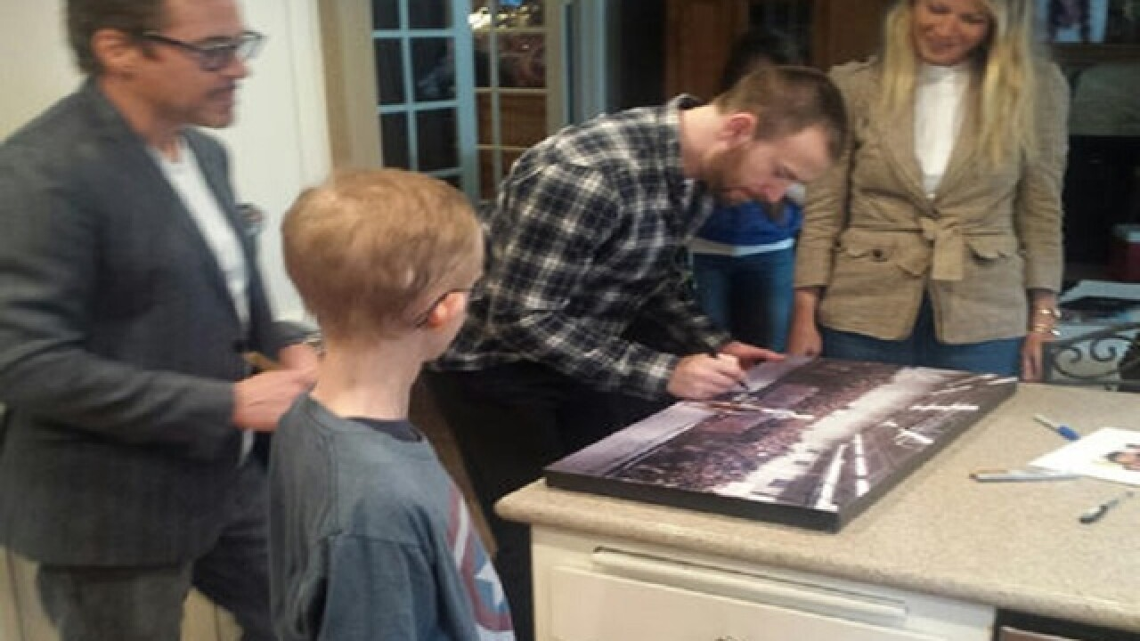 'Avengers' actors visit fan with cancer