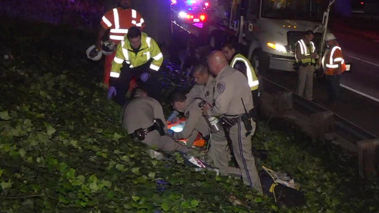 Caltrans worker injured after fall from SR-163