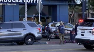 Car into Starbucks