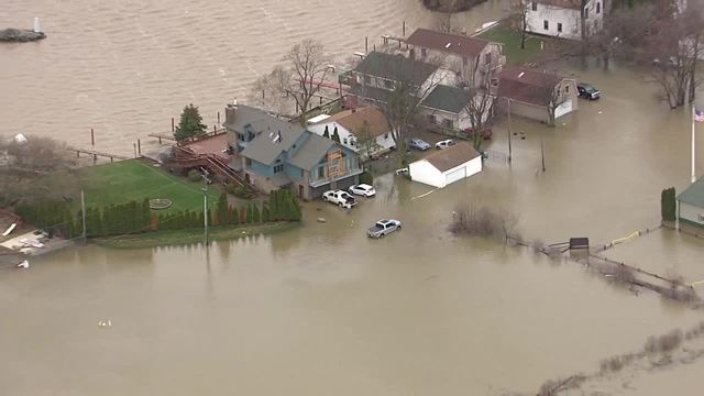 PHOTO GALLERY: Chopper 7 shows flooding in Monroe County after storm