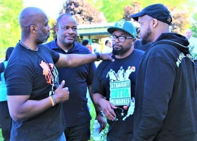 Derrick Rogers, Reggie Moore and Hamid Abd-Al-Jabbar