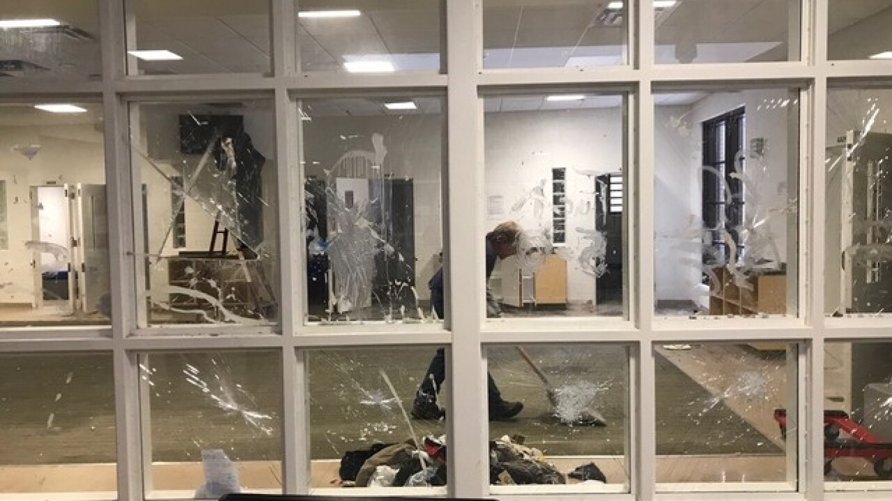 Pictures show damage after riot at juvi center