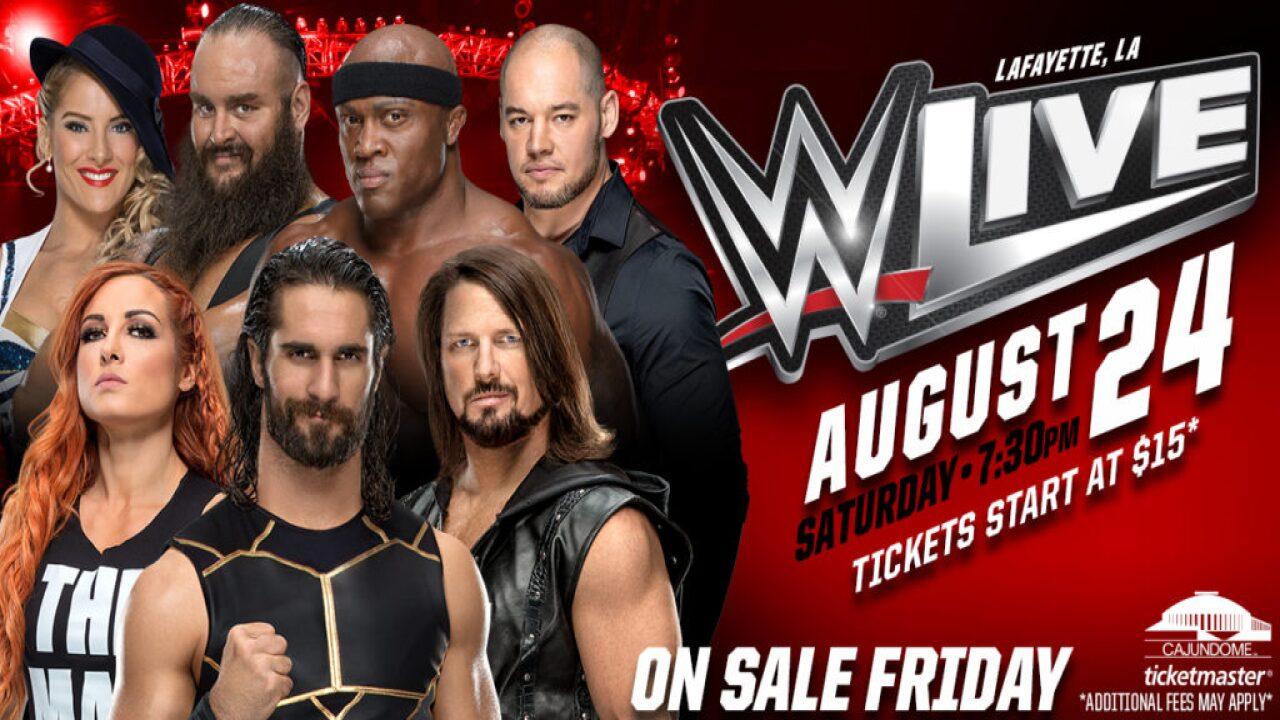WWE Live returns to the Cajundome