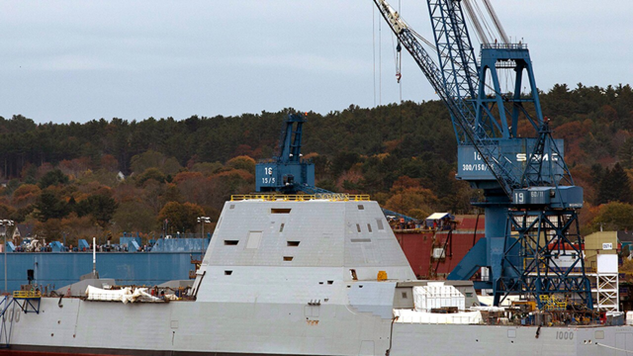 Navy's largest destroyer ever heads for testing