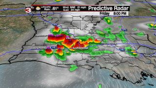 More early evening storms…elevated rain chances stay this weekend