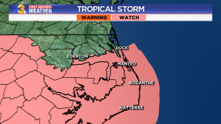 Tropical Storm Watch - Tuesday