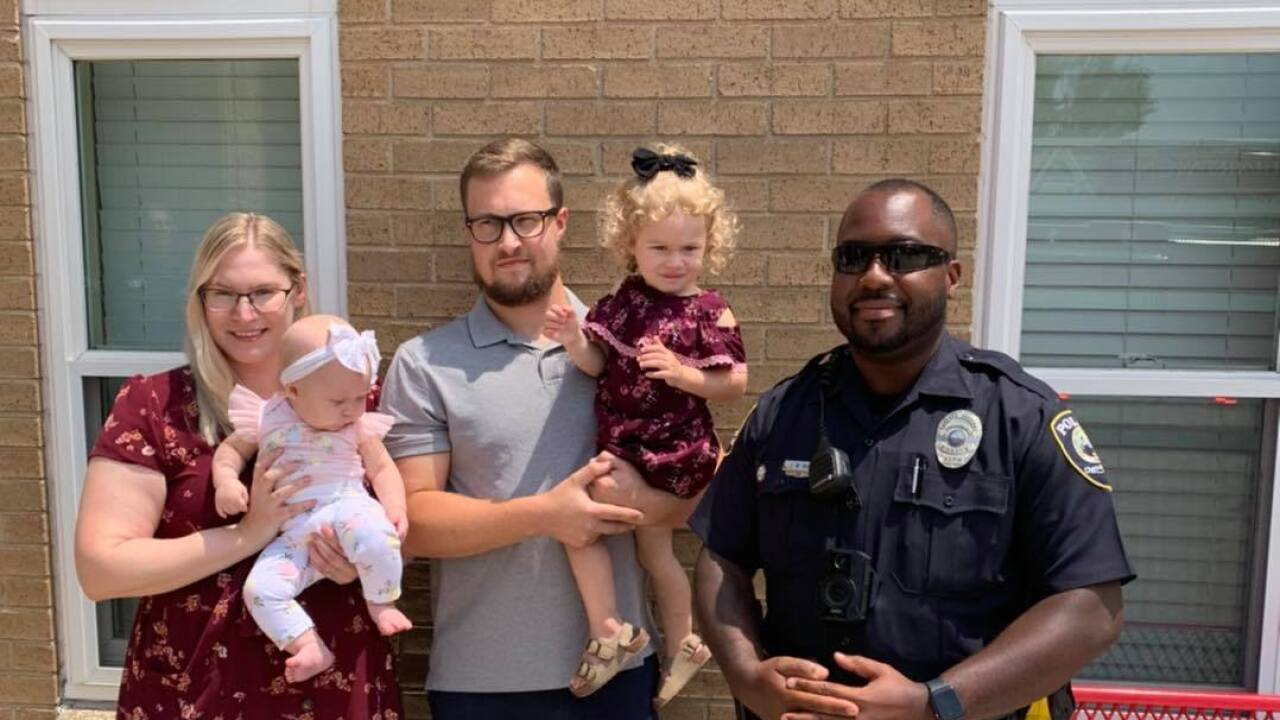 Chesapeake firefighters reunited with 2-year-old (July 26)