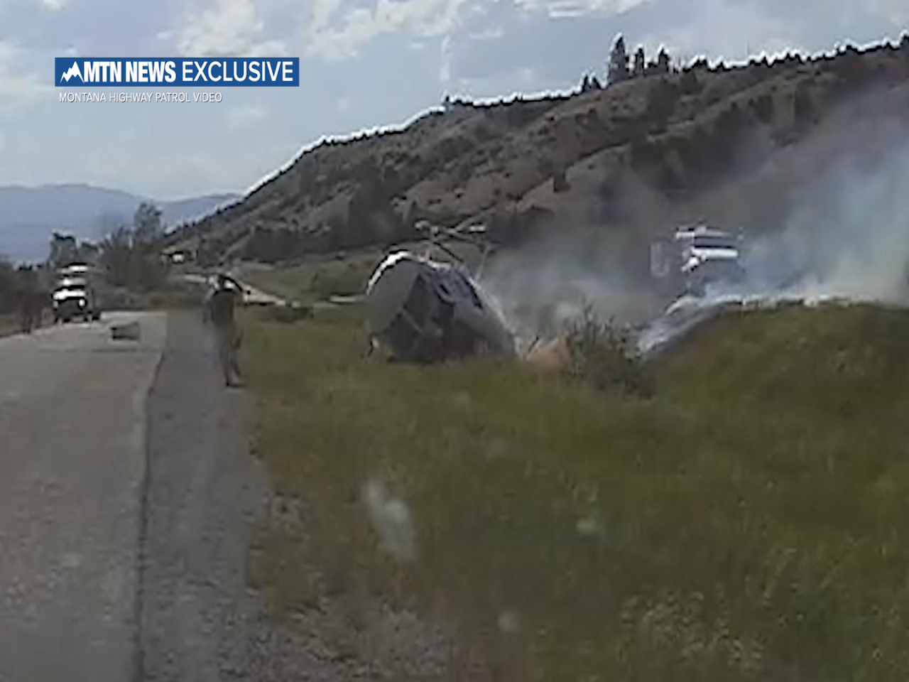Video shows MHP trooper rescue DNRC helicopter crew
