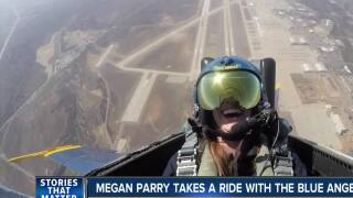 Megan Parry takes a ride with the Blue Angels