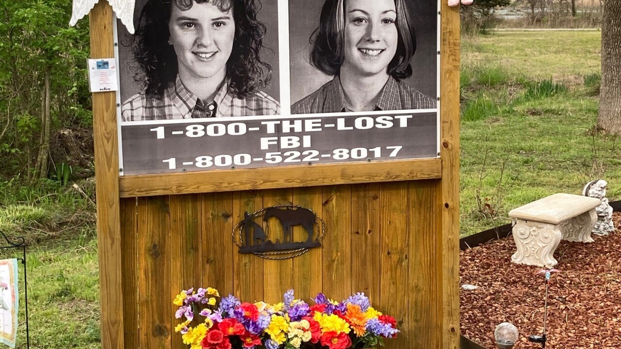 Photos of the two missing Welch girls