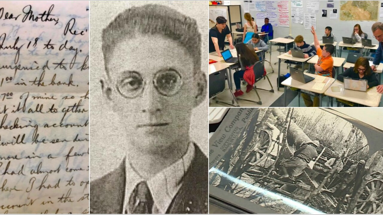 🇫🇷World War I letters give Chesterfield students hands-on lesson: 'You can feel thehistory'