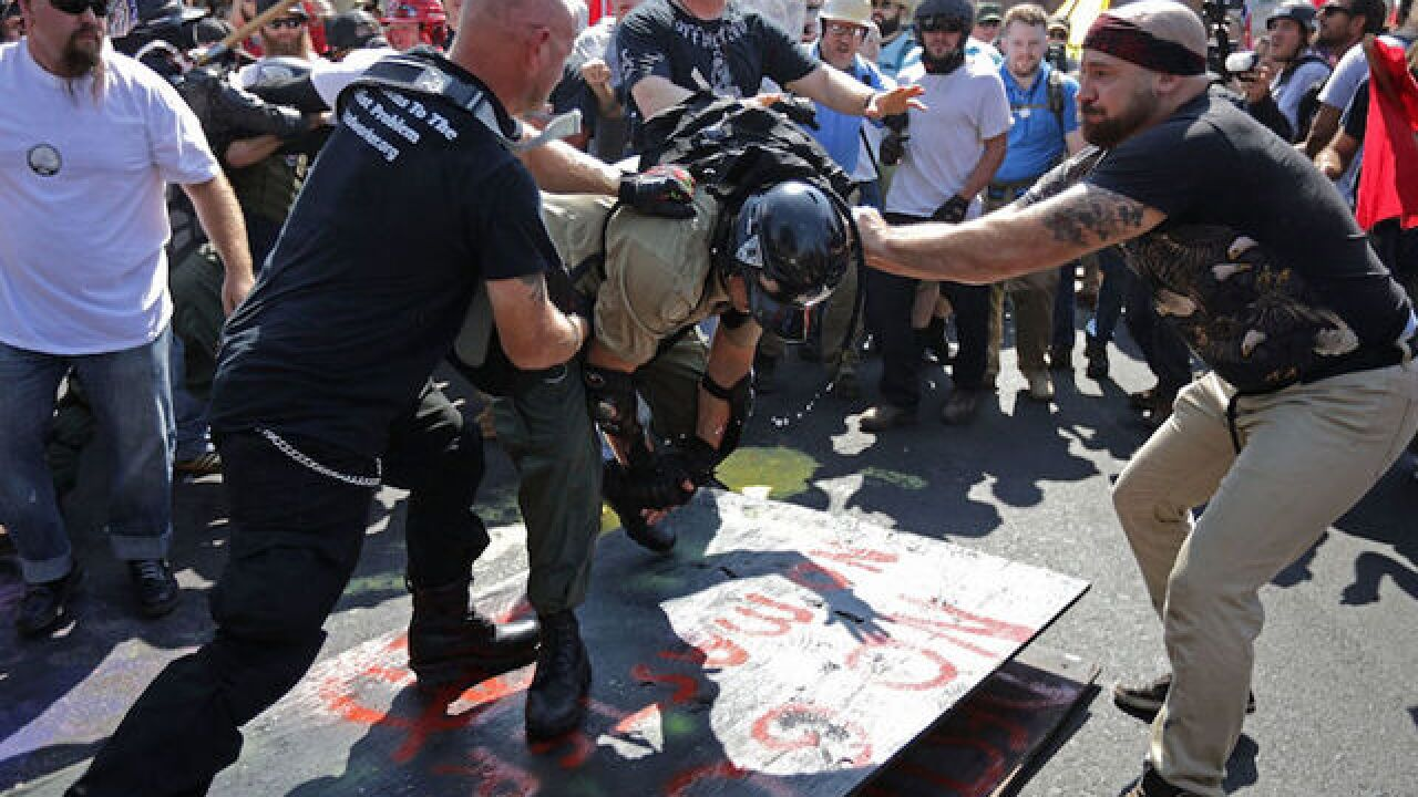 4 men charged in violent Charlottesville rally described as 'serial rioters'