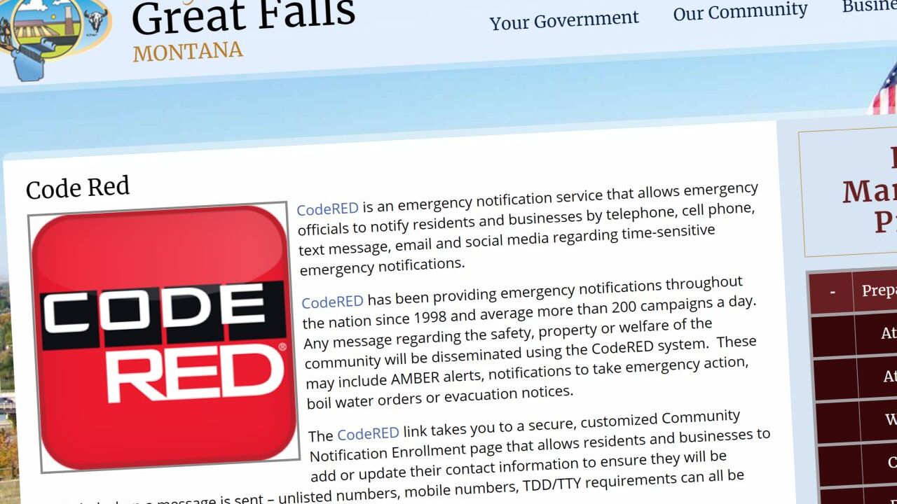 Code Red notification system in Great Falls