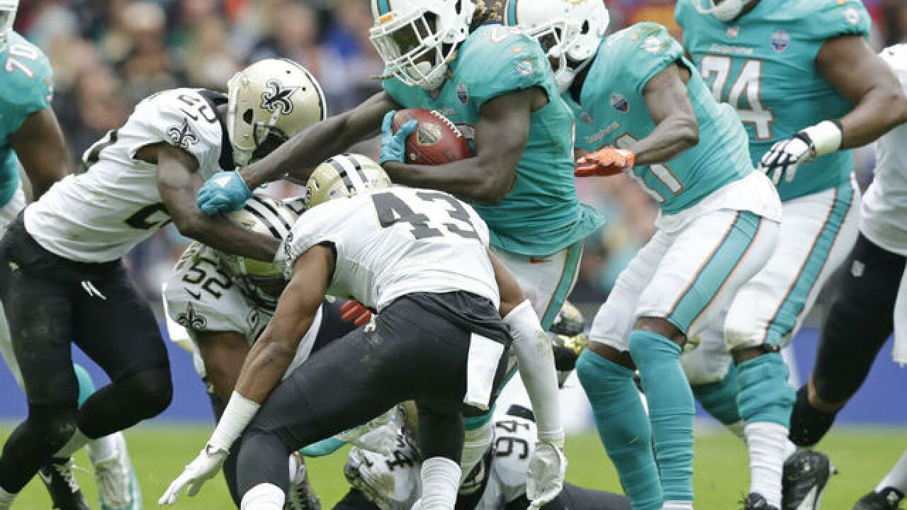 Saints shutout Dolphins 20-0 in London