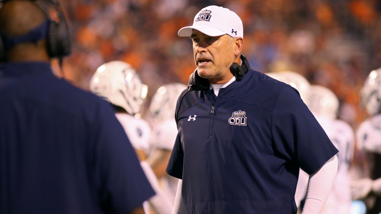 """I have to coach them better."" Bobby Wilder, ODU football try to end six-game losing skid"