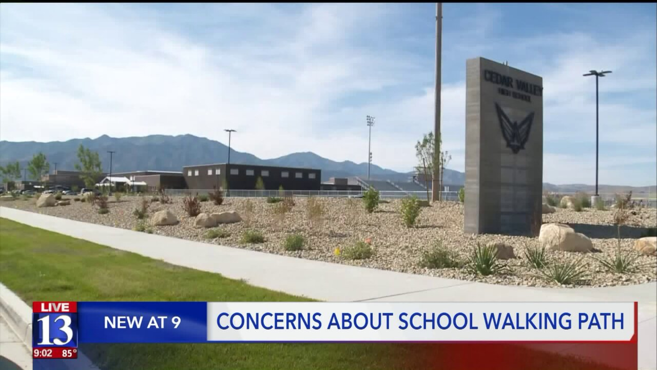 Eagle Mountain teens forced to walk extra distance to school without directpath