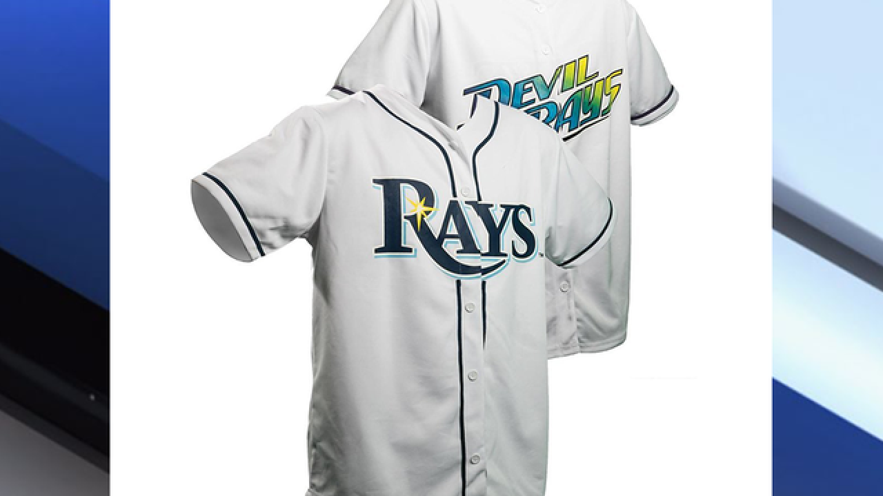 new product 1b423 c2c95 Get a free reversible Rays & Devil Rays jersey when you ...
