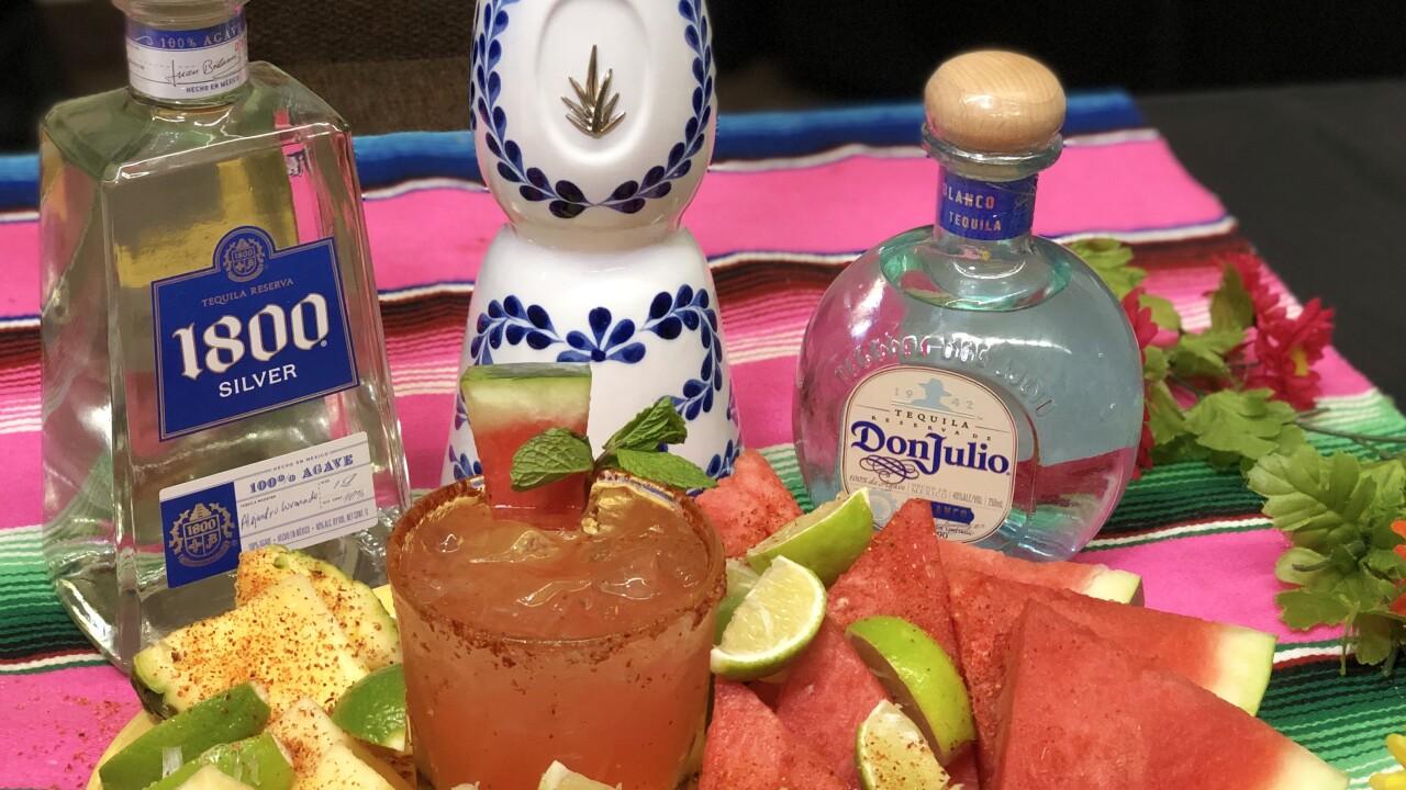 La Mina Cantina's Watermelon Mint Margarita