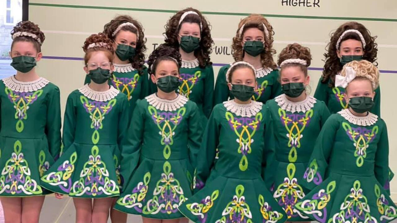 Clann Na Cara Irish Dancers will perform in person on St. Patrick's Day