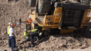 Mesa FD rescues man from overturned dump truck