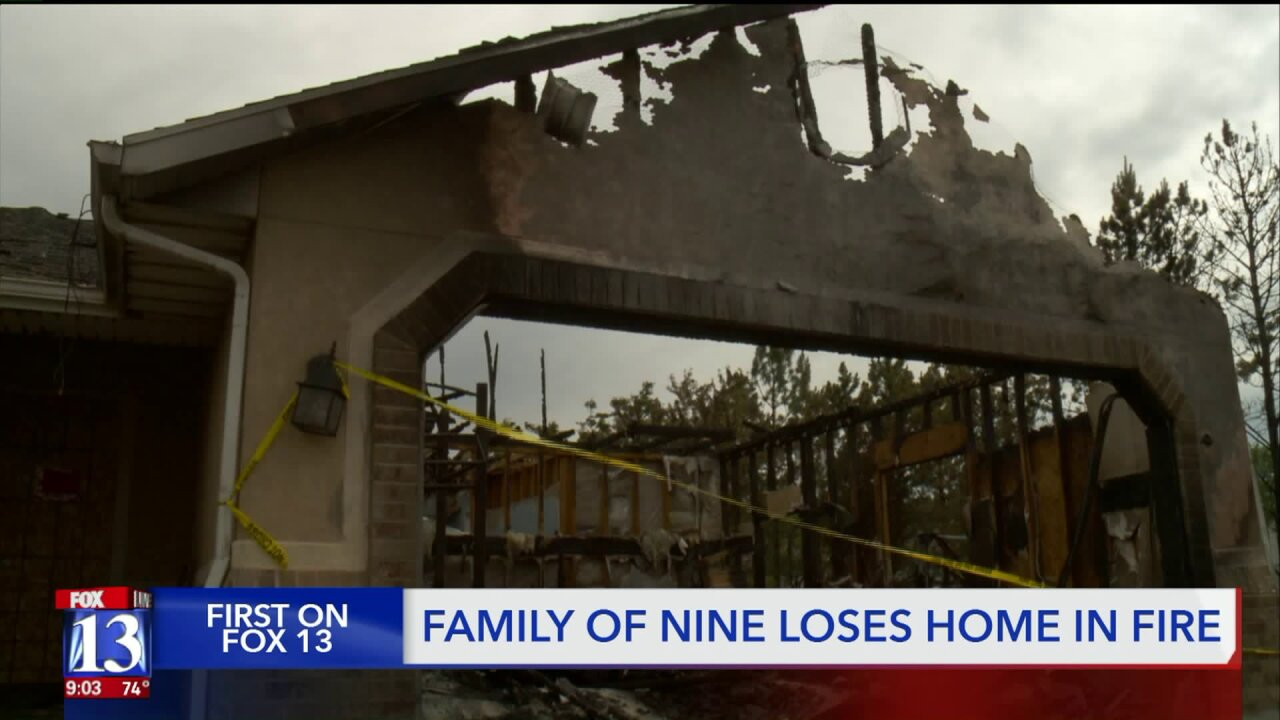 'We are blessed': Herriman family of 9 thanks community after losing home infire