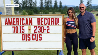 Female discus thrower Valarie Allman sets new American record